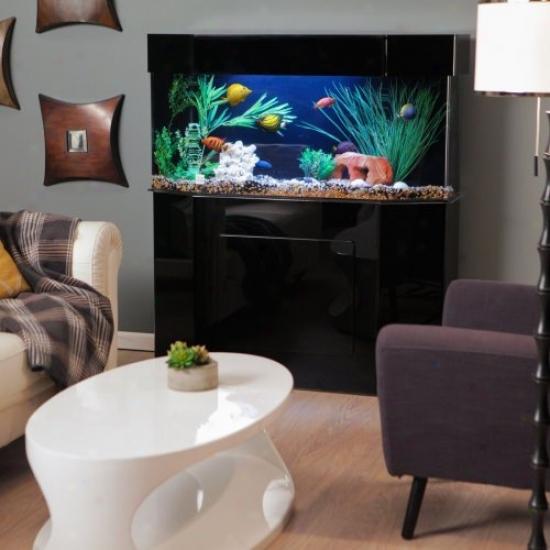 Acrylic Flat-back Hexagon Aquarium Stand