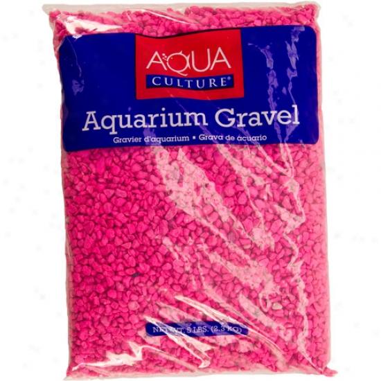 Aqua Cuiture Aquarium Gravel, Neon Pink, 5 Lb