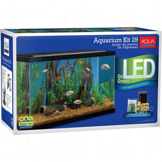 Aqua Improvement Aquarium Starter Kit, 29 Gallon