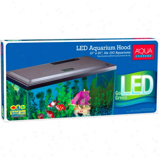 Aqua Culture Led Hood For 10 Gallon Aquariume