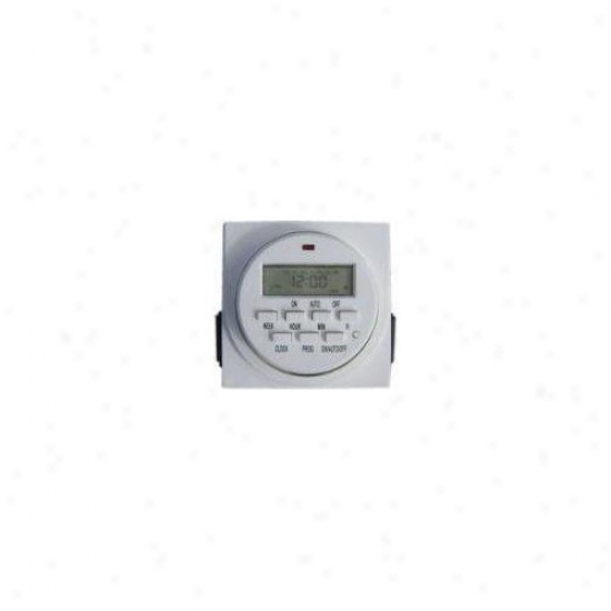 Aqua Euro Usa Dual Outlet Digital Timer In White