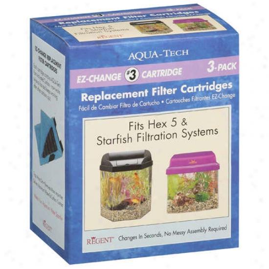 Aqua-tech Ez-change Replacement Filter Cartridges, 3 Ct