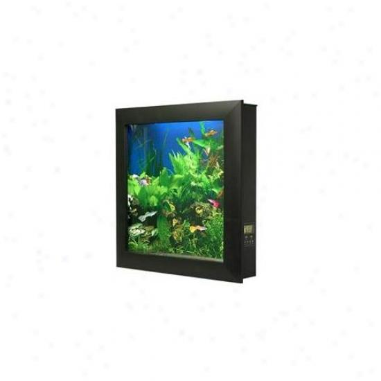 Aquavista Av500sba Wall-mounted Aquarium Av 500 Seaweed Background With Black Frame