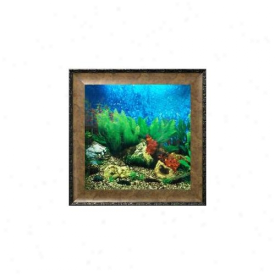 Aquavista Av500tabale Wall-mounted Aquarium Av 500 Tropical Take in ~ Background With Leo Frame