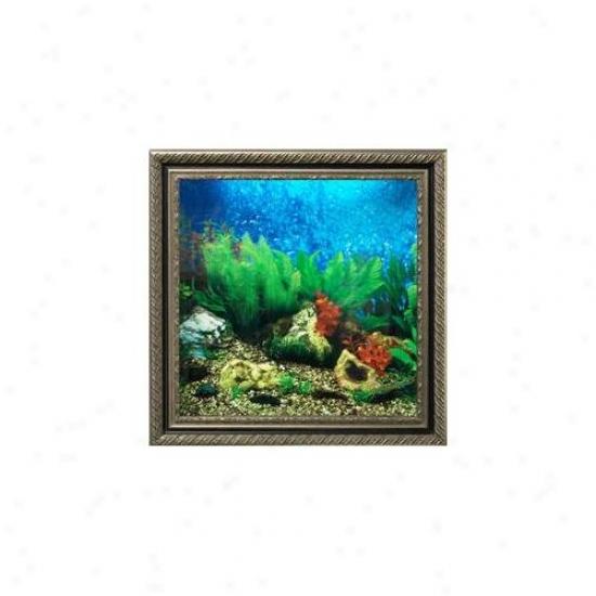 Aquavista Av500tabavi Wall-mounted Aquarium Av 500 Tropical Water Background With Virgo Frame