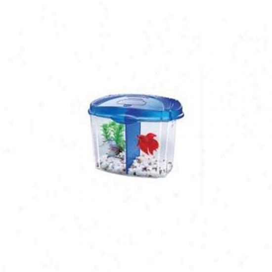 Aqueon Glass - Betta Bowl Kit- Blue 1-2 Gallon