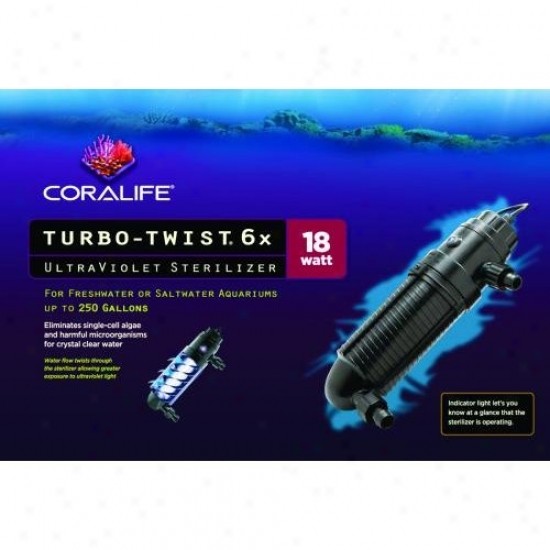 Aqueon Supplies 15601 Coralife Turbo-twist Ultraviolet Sterilizer