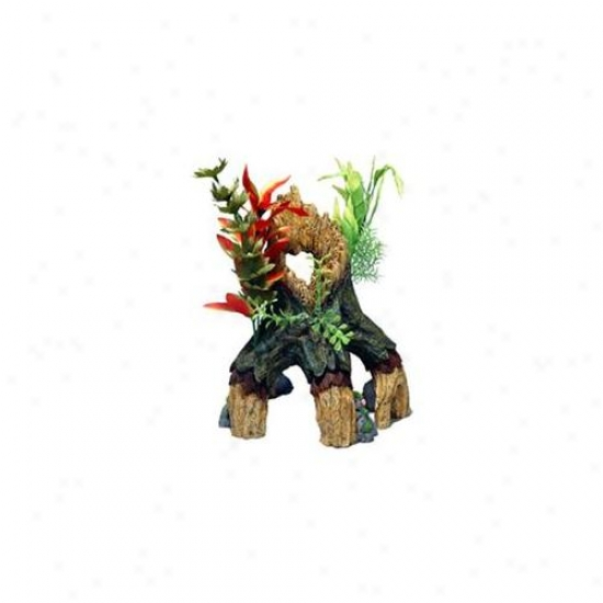 Blue Ribbon Pet Products Ablee1105 Resin Ornament - Large Floral Mangrove Tree Trunk