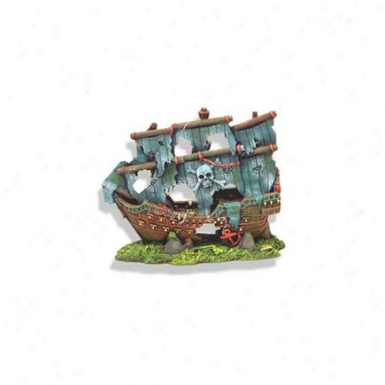 Blue Ribbon Pet Products Ablee1521 Resij Ornament - Pirates Ghost Ship