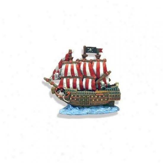 Blue Ribbon Favorite Products Ablee1522 Resin Ornament - Caribbean Pirate Ship