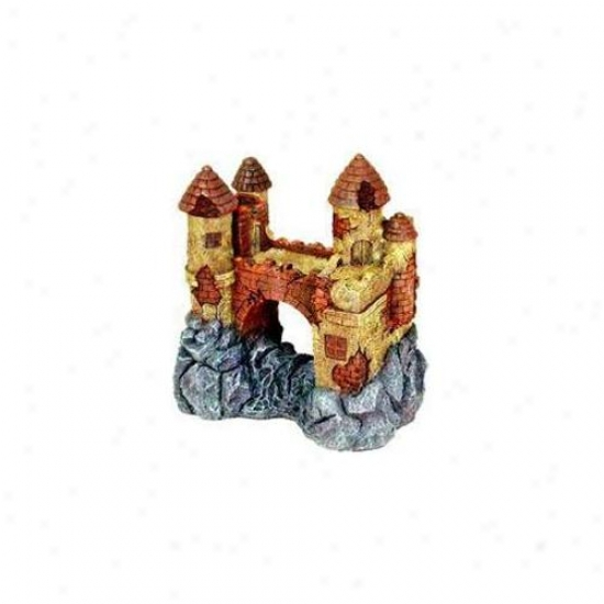 Blue Ribbon Pet Products Ablee1602 Resin Ornament - Jumbo Castle By the side of Bridge