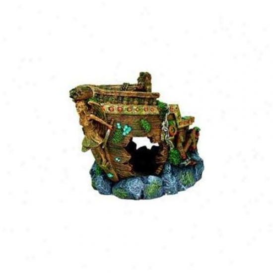 Blue Ribbon Pet Products Ablee1606 Resin Ornament - Jumbo Blw Shipwreck