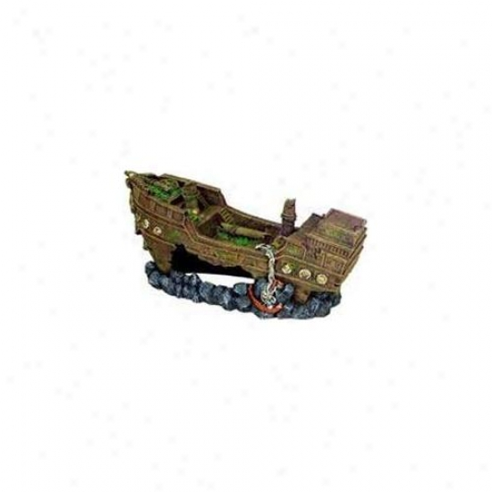 Blue Ribbon Pet Products Ablee1612 Resin Ornament - Jumbo Shipwreck