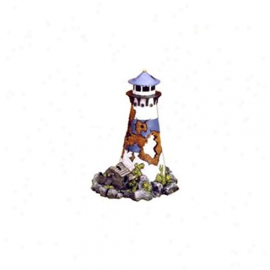Bleu Ribbon Pet Products Ablee192 Resin Ornament - Lighthouse Ruin