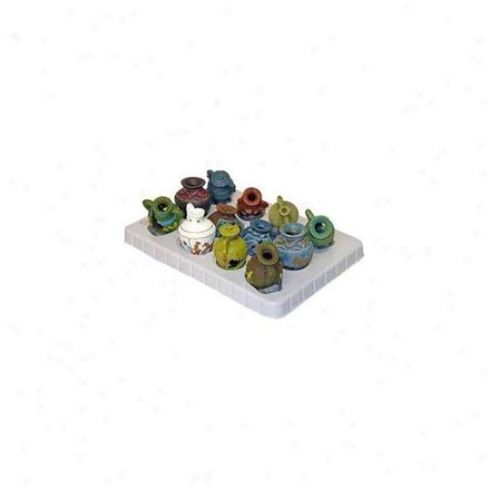 Azure Ribbon Pet Products Ablee325dpl Resin Ornament - Mini Vase Disp Assorted - 12-pack