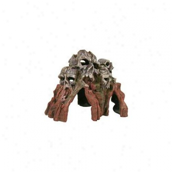 Blue Ribbon Pet Products Ablee441 Resin Ornament - Medium Skull Mountain Brown