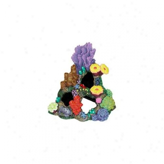 Blue Ribbon Pet Prodducts Ablee450 Resin Ornament - Indonesian Reef Cavern