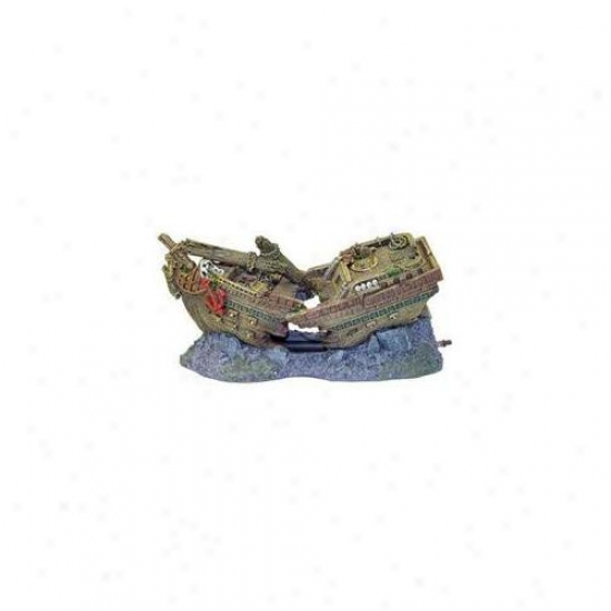 Blue Ribbon Pet Products Ablee543 Resin Embellishment - Shipwreck Bubbler