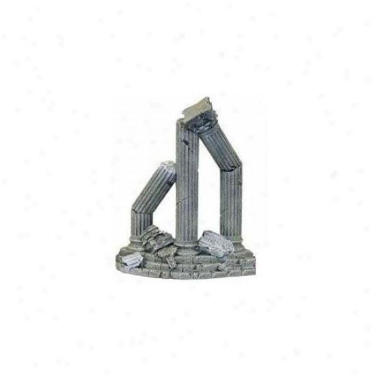 Blue Ribbon Pet Products Ablee914 Resin Ornament - Three Column Ruins Curved Base