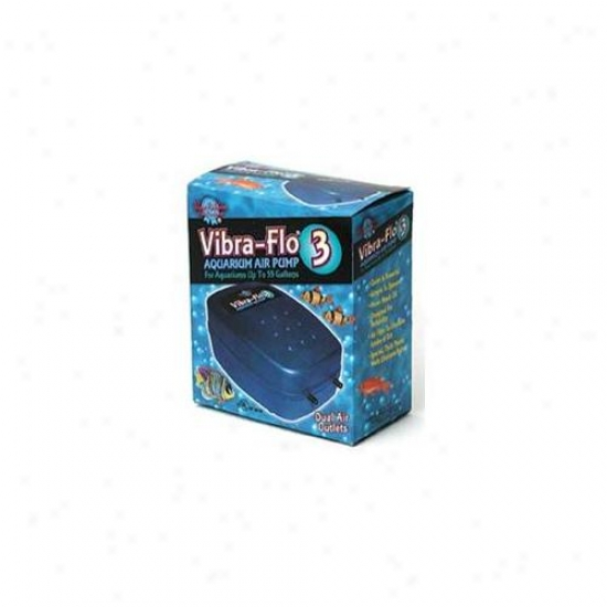 Blue Ribbon Pet Products Ablvf3 Vibra Flow Air Pump 3 Coupled Outlet