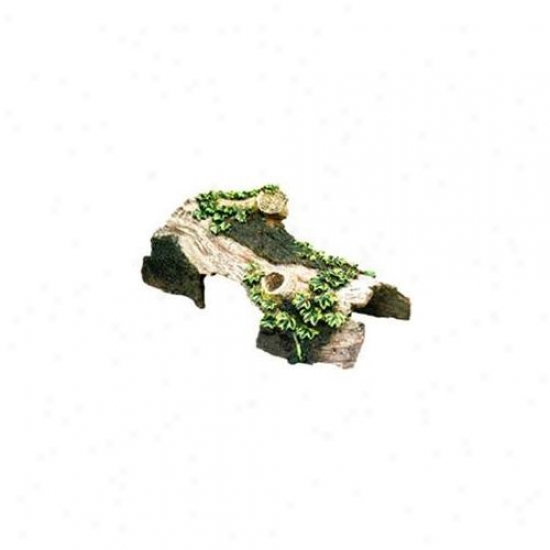 Pedantic  Ribbon Pet Products Sblee633 Resin Ornament - Bent Log Hideaway Large