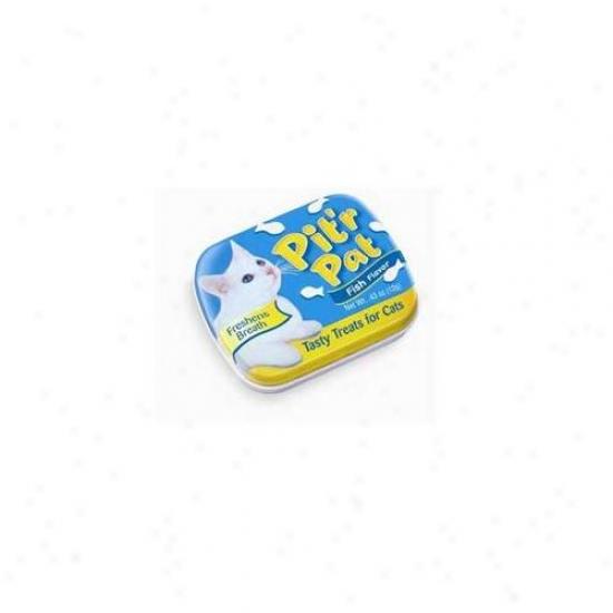 Chomp Inc Cch00373 Pitr Pat Cat Candy Tin Display 12 Piece Fish Flavor