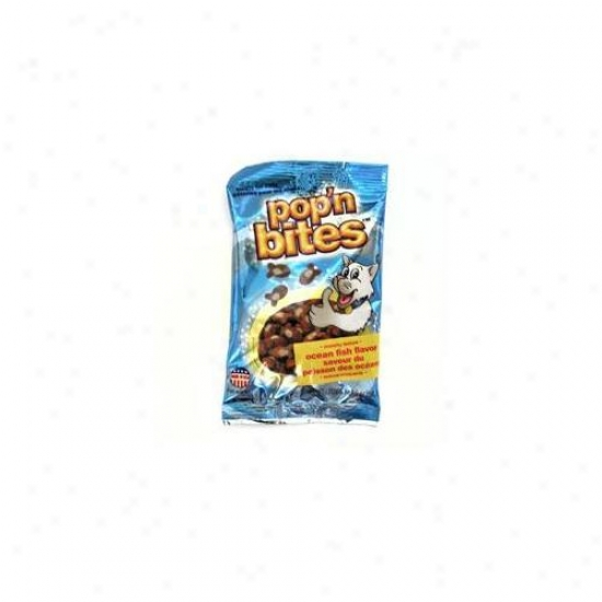 Ddi Popn Bites Ocean Flavor Cat Treat Counter Display- Case Of 24
