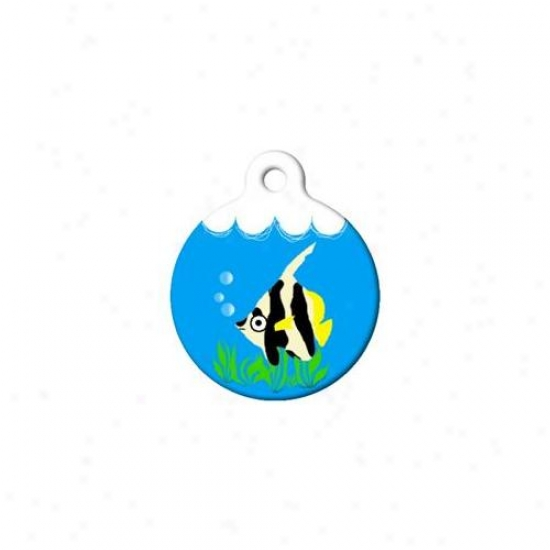 Dog Tag Art Dta-48s Lil Angel Fish Cat Tag - Small