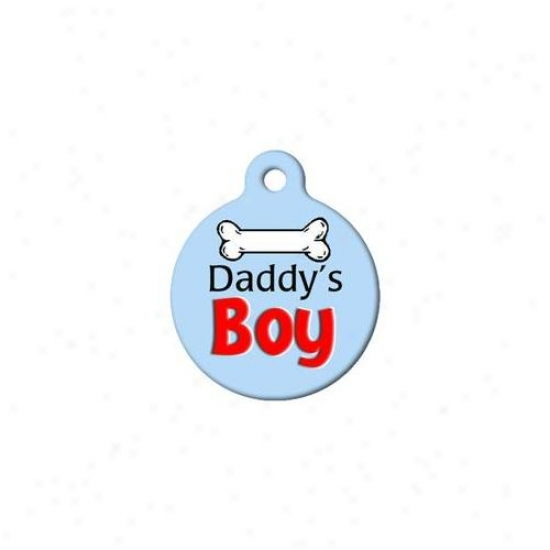 Dog Tag Art Dta-777 Daddys Boy Dog Id Tag - Large