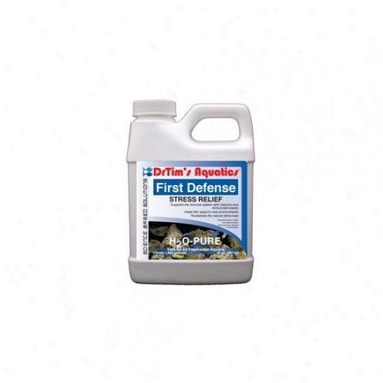Drtim's Aquatics 026 128 Oz H2o-pure First Defense Stress Relief F0r Freshwater Aquaria