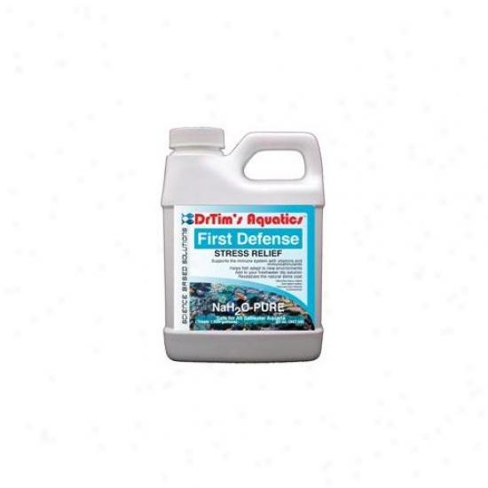 Drtim's Aquatics 225 64 Oz Nah2o-pure First Defense Stress Relief For Saltwater Aquaria