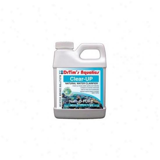 Drtims Aquatics 245 64 Oz Nah2o-pure Clear-up Natural Water Clarifier- Saltwater Aquaria