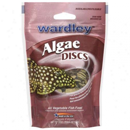 Hartz Wardley Rate above par Algae Discs Food Fish (3 Oz)