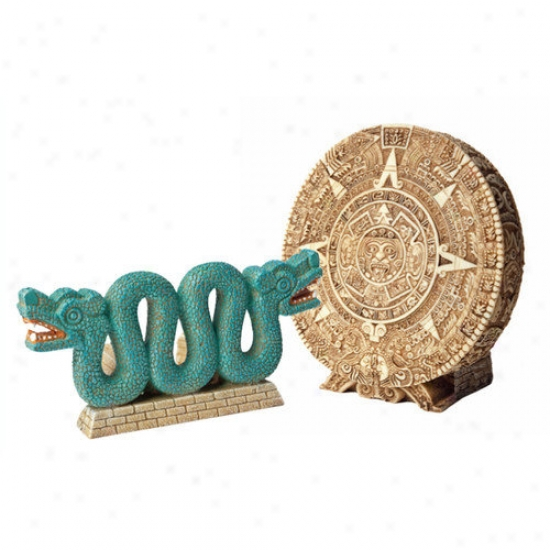 Hydor H2show Lost Civilization Calendar And Snake Resin Ornament