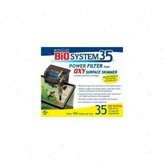 Imagine Gold Llc Aim78035 Bio System Aquarium Filter Plus Power Skimmer
