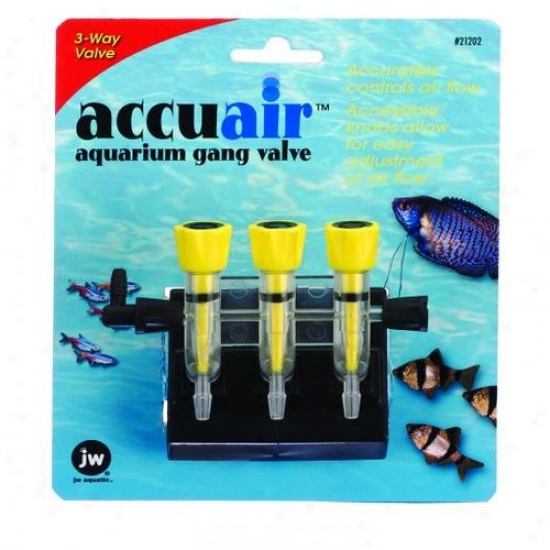 Jw 0421202/21202 Accuaiir 3-way Gang Valve