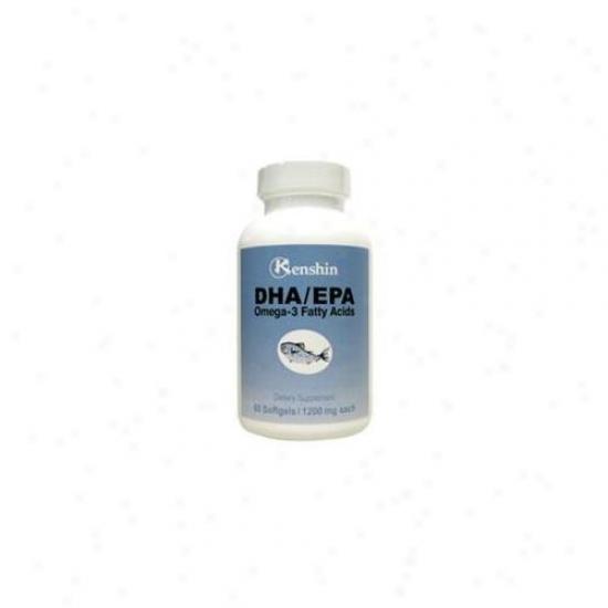 Kesnhin 32000 Epa-dha - Fish Oil - Omega-3 Fatty Acids - 60 Caps-1,200mg - Pack Of 12