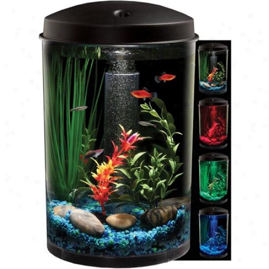Koller-craft The Water-bearer 6 Gal Aquarium Kit With Led Lighting And Internal Filter