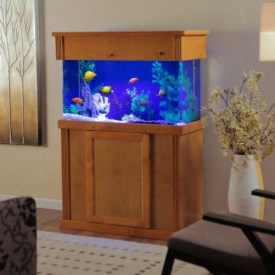 Laguna Series Rectangular Wood Aquarium Stand With Optional Canopy