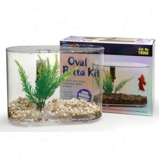 Lees Aquarium & Pet Mibi Oval Aquarium Betta Kit