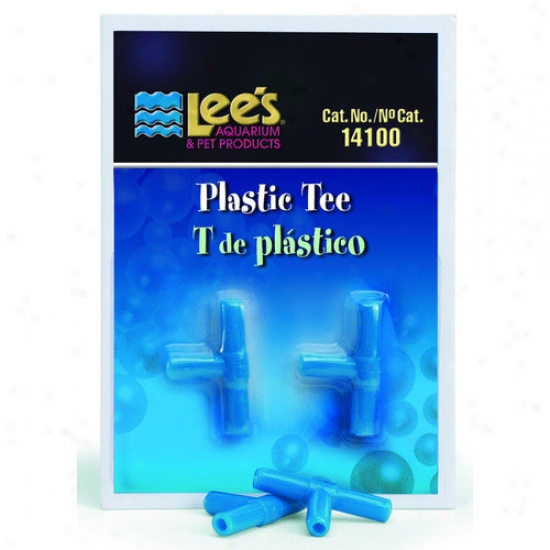 Lees Aquarium & Pet Plastic Tee (2 Pack)