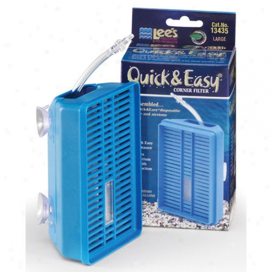 Lees Aquarium & Pet Quick And Easy Corner Filter