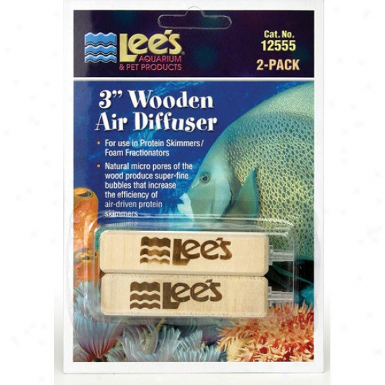Lees Aquarium & Pe5 Wooden Air Diffuser (2 Pack)