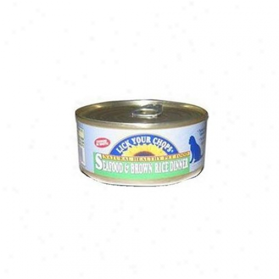 Lick Your Chops Seafood Brown Rice Dinner For Cats 5. 5-ounce Cans -, Pack Of 24