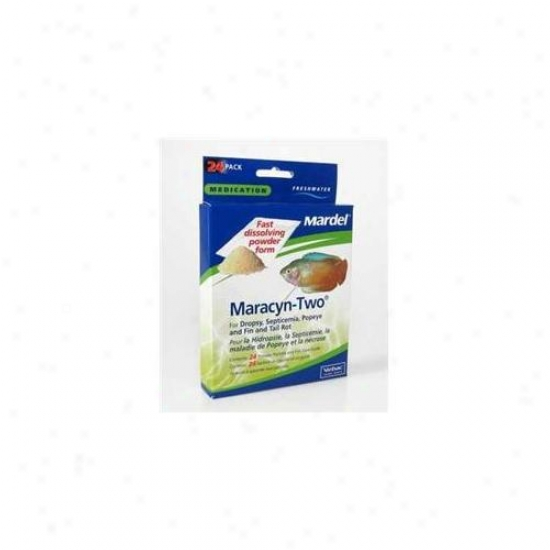 Mardel - Virbac - Amd02125 Fresh Water Maracyn 2 Powder - 24 Pack