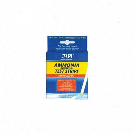 Mars Fishcare North Amer - Ammonia Aquarium Test Strips 25 Count - 33d
