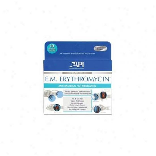 Mars Fishcare North Amer - E. M.  Erythromycin Powder 10 Pack - 55p