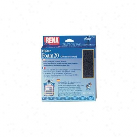 Mars Fishcare North Amer - Rena Filstar Foam 20 2 Pack - 723a