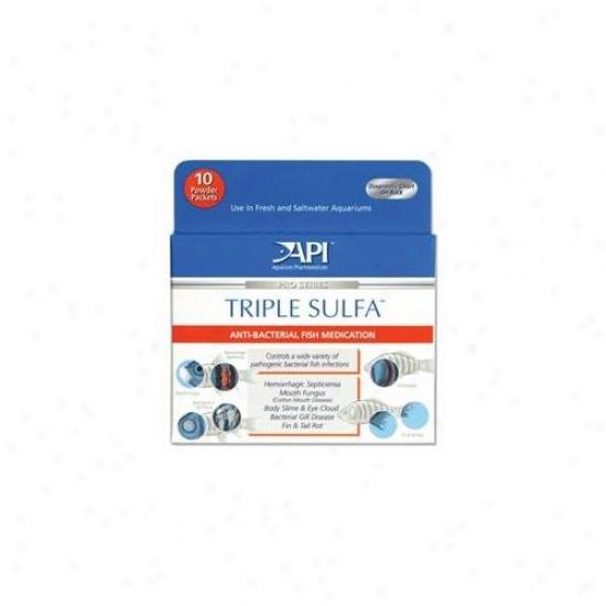 Mars Fishcare North Amer - Triple Sulfa Powder Packets 10 Pack - 50p