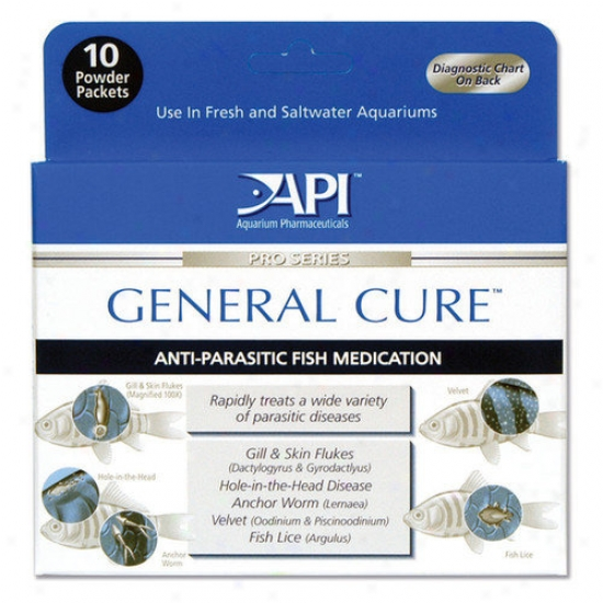 Mars Fisshcare North America General Cure Powder Packe5 Fish Medication